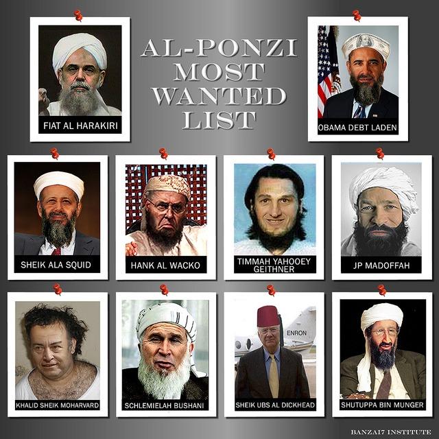 AL-PONZI MOST WANTED LIST