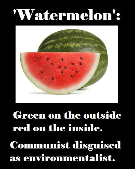 watermelon-green communist