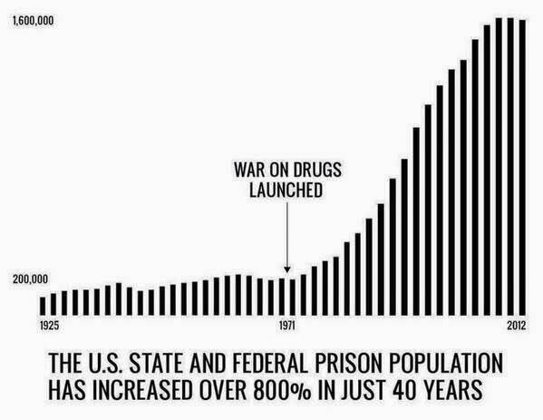 The Rise of the American Prisoin State and the War on Drugs