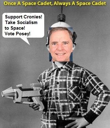 Republican Bill Posey is a Socialist Space Cadet