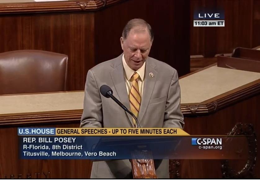 Congressman Bill Posey Calls For Investigation Of CDC Whistleblower