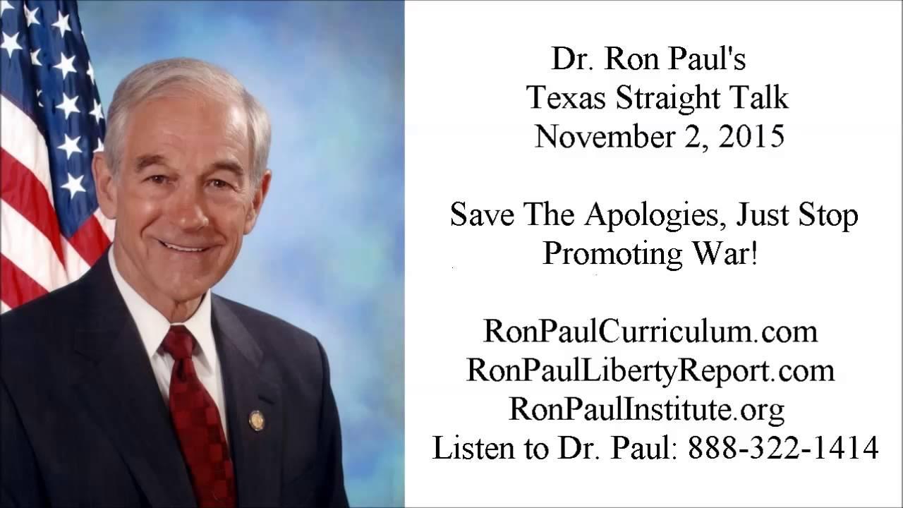 Save The Apologies, Just Stop Promoting War!
