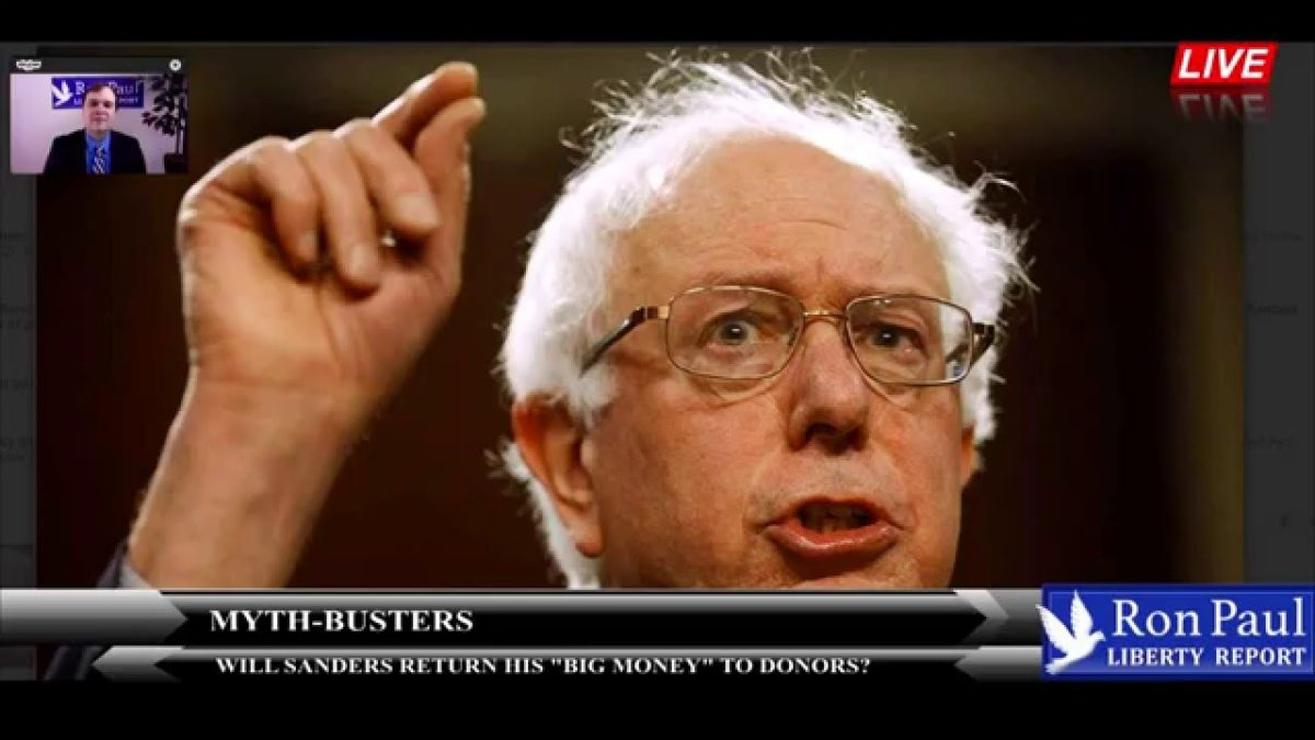 "Myth-Busters: Will Sanders Return His ""Big Money"" To Donors?"
