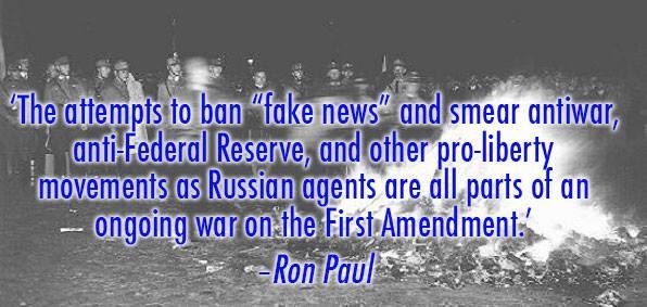 War on 'Fake News' Part of a War on Free Speech