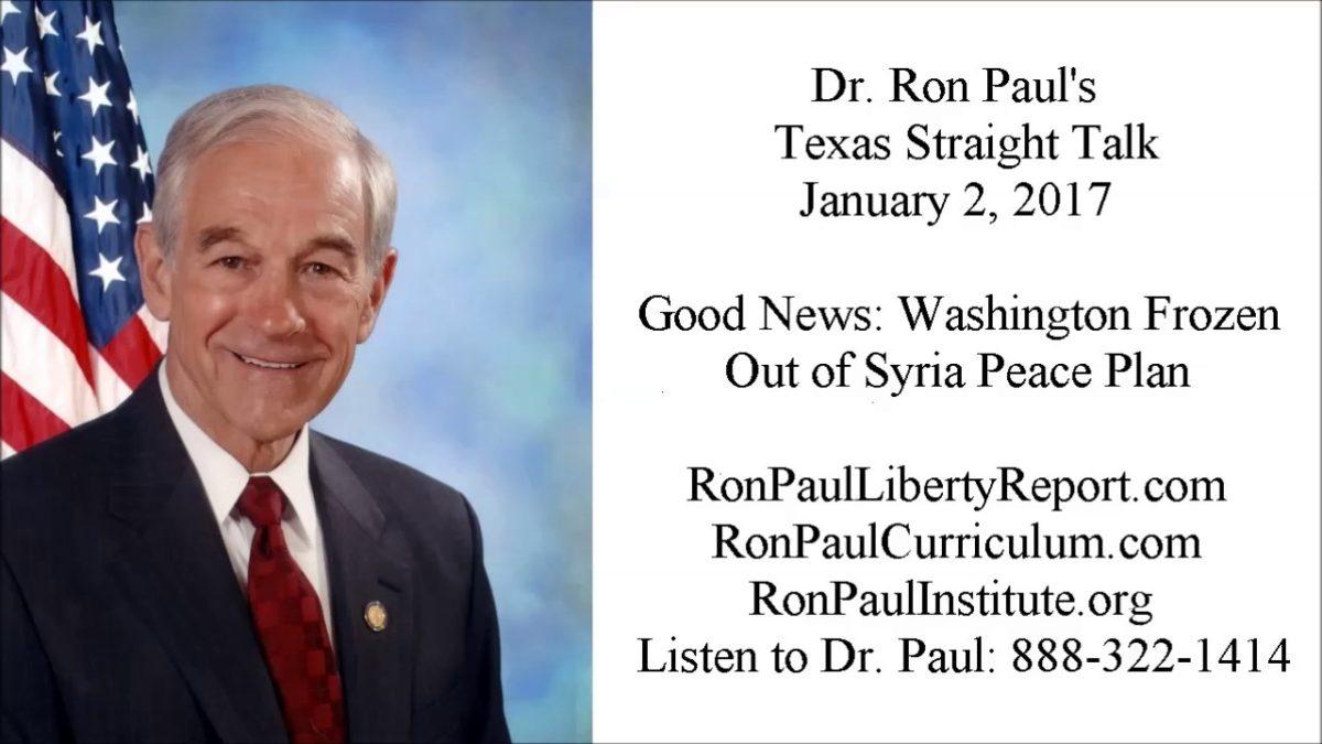 Good News: Washington Frozen Out of Syria Peace Plan